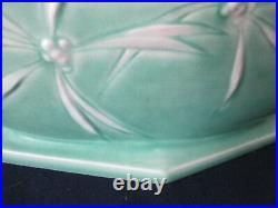 CONSOLE BOWL! Vintage ROSEVILLE ART pottery original arts crafts DAWN pattern EX