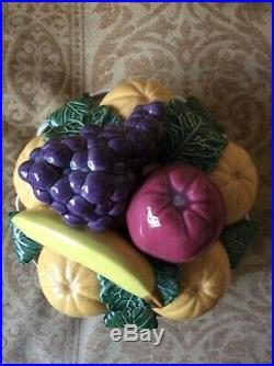 Casa Pupo table centrepiece fruit bowl, vintage ceramic 1970s/80s rare