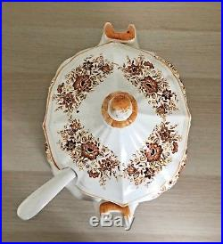 China Soup Bowl Set Lid Underplate And Ladle Oval Tureen Made in Japan Vintage
