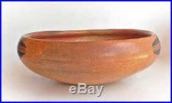 Classic Old Hopi Indian Pottery Bowl Sikyatki Revival Nampeyo style vintage Hopi