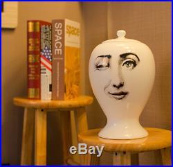 Designer Fornasetti Vase Luxury Home Storage Jar Accessory Vintage Ceramic Bowl