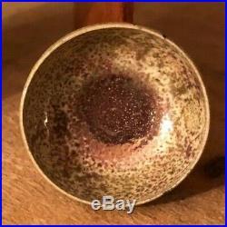 Dollhouse Miniature Raku Bowl by Jon Almeda Pottery, IGMA Signed! RARE