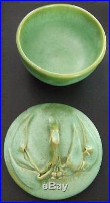 E Bryce Carter Vintage Australian Pottery Gumnut & Gumleaf Small Lidded Bowl