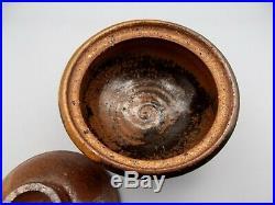 Early Patti Warashina Lidded Stoneware Rice Bowl Studio Pottery Vintage Signed
