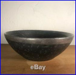 Emilia Los Castillo 925 Silver Moon Stars Bowl Pottery Vintage