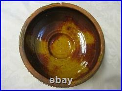 Evans Pottery Dexter Missouri Vintage Clay Bowl 8 3/4 W x 3 1/4 T RoughTexture