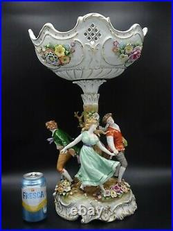 Exquisite Vintage Von Schierholz German Footed Centerpiece Bowl 20 Tall 2 Of 2