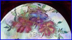 Fabulous Vintage Maling Footed Lustre Bowl Azalea #6439 Circa 1934 40's