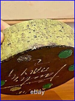 Fantoni Raymor Vtg Mid Century Italian Modern Pottery Bowl Vase Vessel Italy