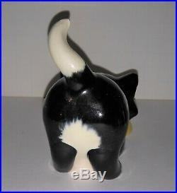 Figaro with milk bowl Gepetto pottery vintage early 40's piece no issues