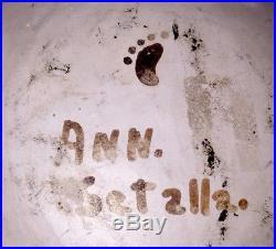 Fine Vintage Signed Ann. Setalla Hopi Indian Pottery Painted Bowl