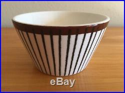 Four Stig Lindberg Gustavsberg Spisa Ribb Bowls Original Vintage Production