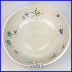 Franciscan Atomic Starburst 12 Large Salad Serving Bowl Vintage