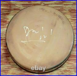 Francoise Dufayard. Large Vintage Signed Studio Pottery Bowl. Fish Pattern