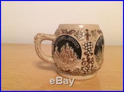 Gerz German Rumtopf Castle Stoneware Punch Bowl Set Vintage European Antique