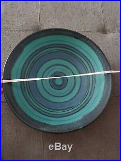 Glidden Pottery Fong Chow Gulfstream Bowl Large 14 Signed 4012 Vintage