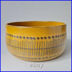 Goran Andersson Upsala Ekeby ceramic bowl Stripa Swedish MCM Göran vintage