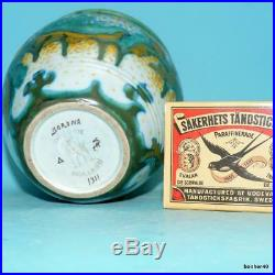 Gouda Zuid-holland Vintage Art-crafts Dutch Folk Art Deco Corona Bowl