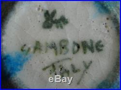 Guido Gambone Modernist Studio Pottery Bowl Italy Mid Century VINTAGE Donkey