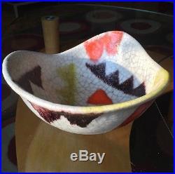 Guido Gambone Pottery Mid Century Bowl Fantoni Bitossi Raymor Vintage Ceramic