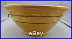 HUGE 16 1/2 Mixing/Dough Bowl Vintage Antique Primitive Pottery Yellowware
