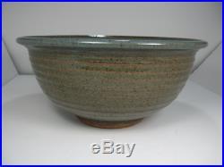 HUGE David SHANER Studio Pottery STONEWARE Bowl Vintage Montana MCM