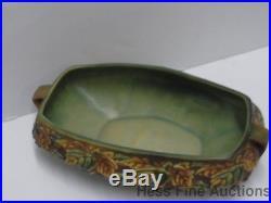 Hard to Find Vintage Roseville 1930s Blackberry Pottery Large Basket Bowl