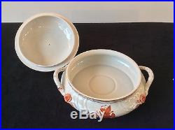 Herend Chinese Bouquet Rnd Covered Vegetable Dish Bowl Rust Lemon Top #1032 Vtg