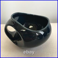 Holkham Pottery Retro Vintage 1960s Blue Owl Coffee Pot, 6x Mugs, Sugar Bowl