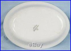Homer Laughlin Bluebird Oval Vegetable Bowl Blue Edge Trim Vintage Beauty E9303