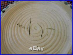 Huge McCarty Pottery Fruit or Pasta Bowl With Cotton Rows Mint Vintage! 14.5