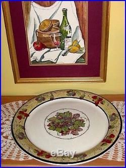 ITALY Large 19 Vintage Serving Platter Dish Pasta Bowl ARM Ceramica Hand Decor