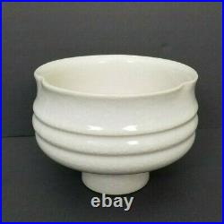 Ikebana Pedestal Bowl/Vase Toyo Mid Century Modern Japan Japanese Pottery Vtg