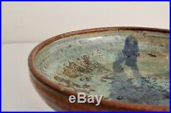 Iris Barna Vtg Mid Century Modern Studio Art Pottery Bowl Vase Santa Fe Mexico