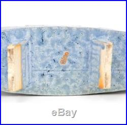 Japanese Signed Ikebana Mid Century Studio Pottery Vase Stoneware Bowl Vintage