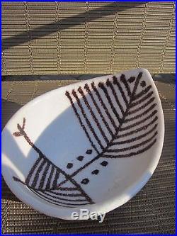 LARGE Guido Gambone Modernist Studio Pottery Bowl Italy Mid Century VINTAGE