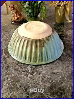 LARGE McCarty VINTAGE JADE Pottery JADE Cotton Row Bowl Mississippi ESTATE FIND