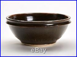 Large Vintage Tenmoku Glazed Studio Pottery Bowl 20th C