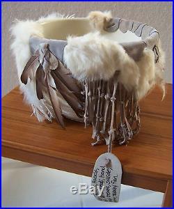 LEOMA LOVEGROVE Vtg Southwest Style Embellished Pottery Bowl Jar