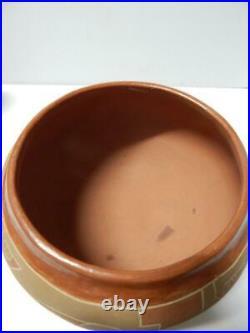 Large Antique / Vintage San Juan Pueblo Indian Pot Pottery Bowl Nice