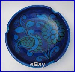 Large Vintage Bitossi Italian Pottery Rimini Blue Ashtray / Bowl MID Century