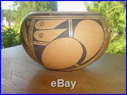 Large Vintage Hopi Indian Pottery Bowl By Vivian Shula