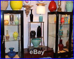 Large Vintage Italian Art Pottery Lotus Bowl Raymor Netter Centerpiece