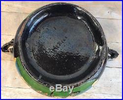 Large Vintage Mexican Tlaquepaque Black Pottery Serving Bowl