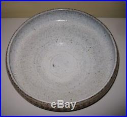 Large Vintage ROBERT MAXWELL bowl, California studio pottery midCentury