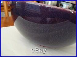 Large Vintage Rookwood Bowl Purple Mottled Glaze 1920 Ex Cond