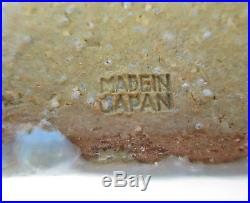 Large Vintage Signed Ikebana Vase Mid-Century Modern Japanese Pottery Bowl Japan