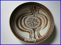 Large Wasserman Pottery Ceramic Bowl Charger Sculpture Painting Abstract Vintage
