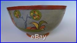 Large vintage 1940 blue Mexican Tlaquepaque bowl 9 5/8 diam. X 5 1/8 tall
