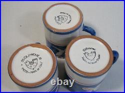 Lot 10 Vtg Solimene Vietri Made In Italy 3 Plates & Mugs 4 Bowls Pesce Fish Blue